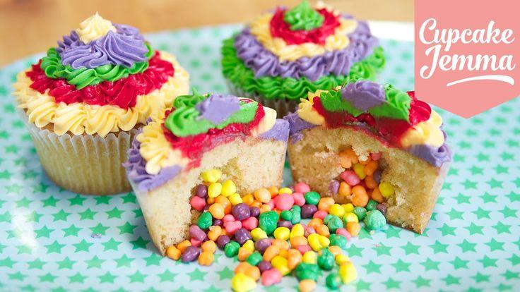 How to make Pinata Cupcakes | Cupcake Jemma