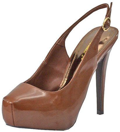 Breckelles Vanesa-12 Tan Women Platform Pumps   Sell Cheap Shoes