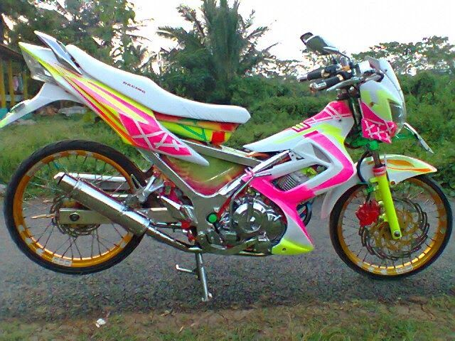 gambar foto modifikasi motor satria fu 2014