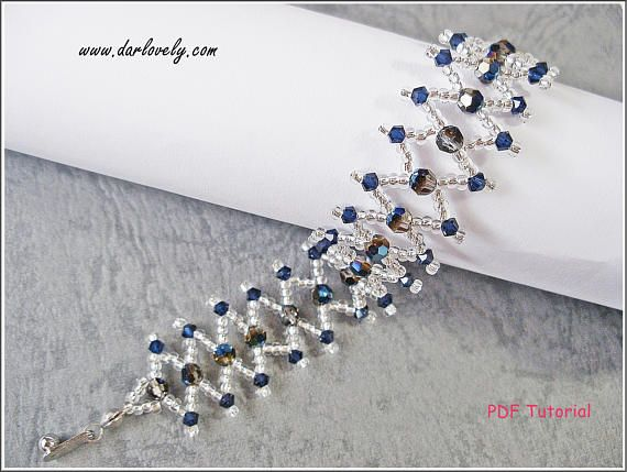 This tutorial includes details, easy step by step instructions with colour photos/pictures and materials list. The bracelet is made using Swarovski bicone, faceted rounds and seed beads, which are easily available.  Time required approximately 1 hr 45 min  Number of pages 9 Number of Steps 22  Skill Level: Beginner  This tutorial is for your personally pleasure only. There are a lot of other items in my shop, so please do drop by and have a look.  Thank you and have a wonderful day.  ***...