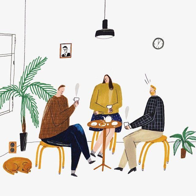 Jan. 2015 osulloc magazine #teatime #osulloc #illustration #kwakmyeongju -