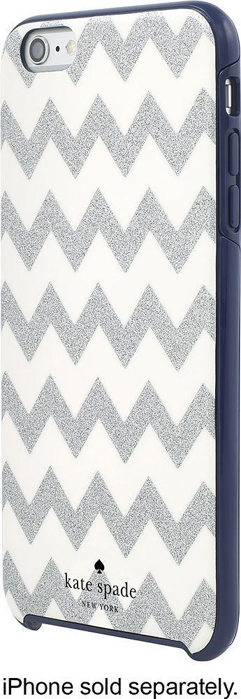 kate spade new york - Hard Shell Case for Apple® iPhone® 6 Plus & 6s Plus - Chevron Glitter Silver/Navy (Chevron Glitter Silver/Blue), KSIPH-012-CGSN