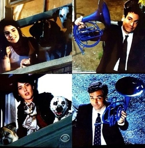 "When Ted shows up to Robin's doorstep with a blue French horn, 24 years after the first time. | 19 Times ""How I Met Your Mother"" Restored Your Faith In Love"