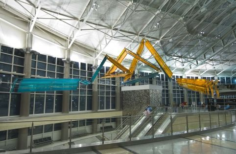 """Vector HH"" by Luca Buvoli; William P. Hobby Airport (Houston) (1 of 2)"