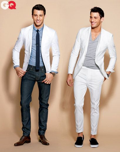 The Jeans and white blazer is a brilliant look.