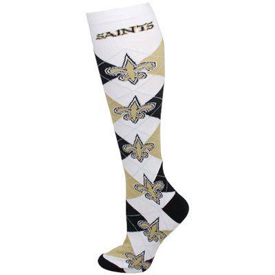 New Orleans Saints Ladies Argyle Performance Tube Socks - White I WANT THESE :)