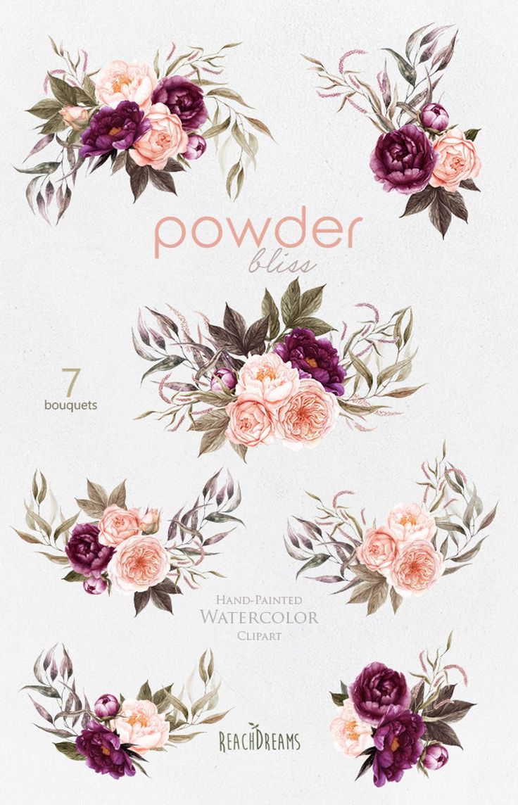 Peony Watercolor Flower Tattoos: Peonies Flowers Watercolor, Roses, Floral Bouquets, Powder