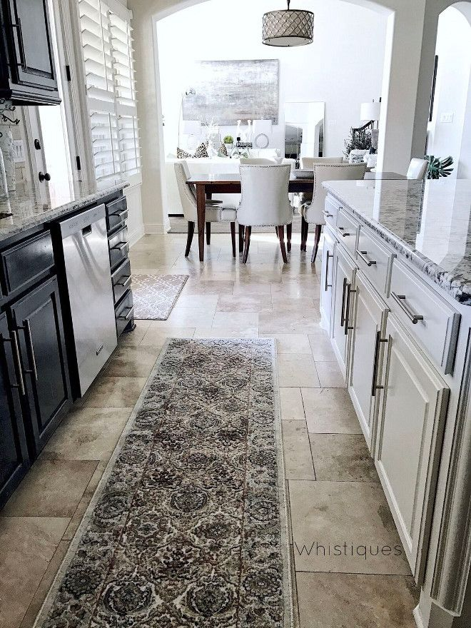 Kitchen Runner. Runner:  Rugs America (Riviera) from Tuesday Morning. Kitchen Runner. Kitchen Runner. Kitchen Runner. Kitchen Runner #KitchenRunner Beautiful Homes of Instagram @whistiques