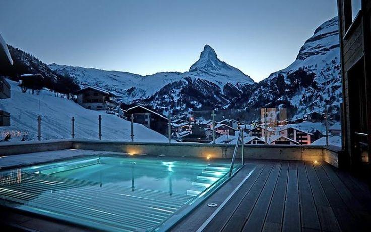 Quel bonheur de pouvoir se relaxer dans un spa après une belle journée à la montagne !