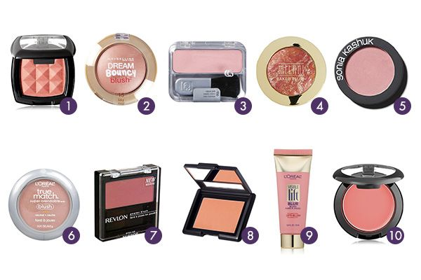 The Ten Best Drugstore Blushes: A well-executed pop of color is a very bright idea. When you're looking for an artificial healthy glow (since getting the real thing brings the threat of UV damage), swipe on and blend one of these ten drugstore blush picks. If you're well-versed in the art of contouring, blush is already a necessity, and if you're looking to experiment with some glow, these affordable products are a great place to start. Just remember: start small, build and blend…