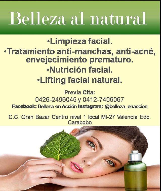 Feliz sabado para todos! Belleza en Accion te ofrece: tratamiento facial anti acne, anti manchas, contra el Envejecimiento prematuro. Limpieza profunda. Peeling (AHA). Nutricion facial. Contactanos : 0426 2496045 y 0412 7406067. Previa cita. #naguanagua #mañongo #trigal #trigaleña #prebo #sandiego #isabelica #guacara #losguayos #paraparal #tocuyito #valencianos #carabobeños #venezolanas #mujeres #valenciavzla #piel #rostros #belleza #salud #sandiego #sandiegoconnection #sdlocals…