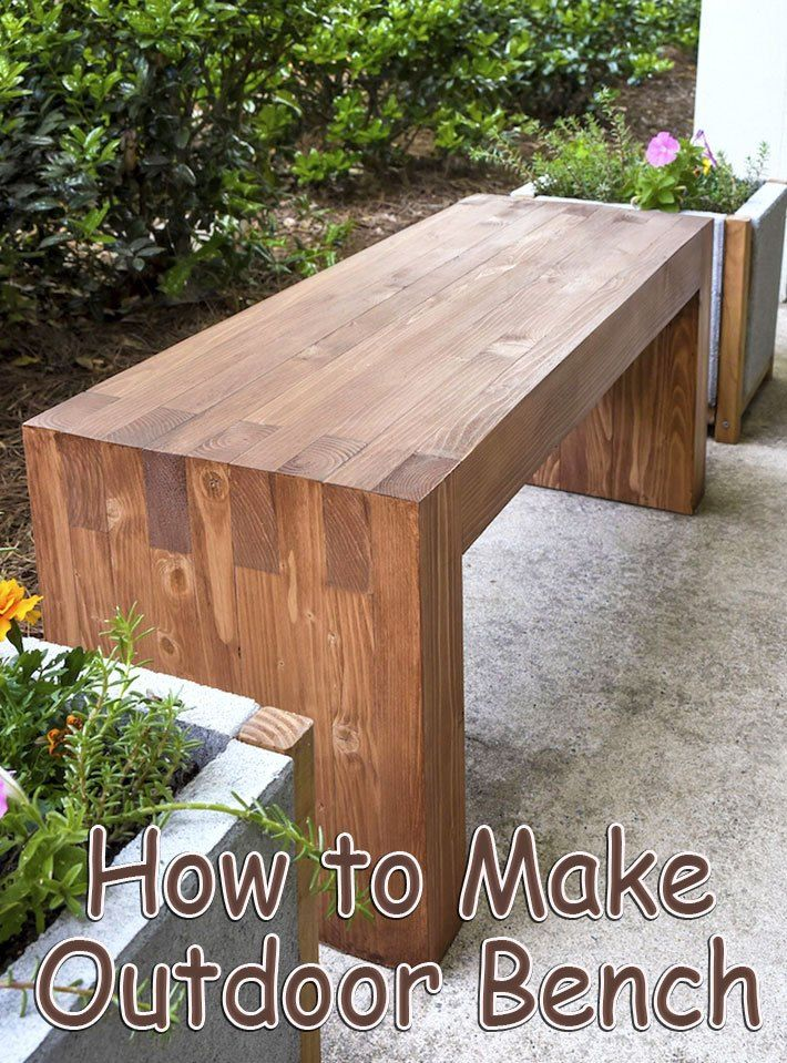 Every Porch Needs A Bench Here S How To Build This Outdoor Bench With A Finished Size Of 16 High X 40 Garden Bench Diy Diy Bench Outdoor Wood Bench Outdoor