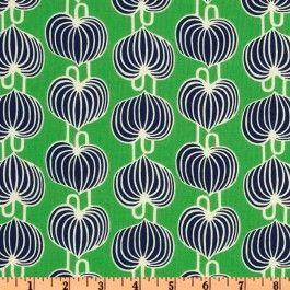 Chinese lantern grass green chez Bouillon de Couture