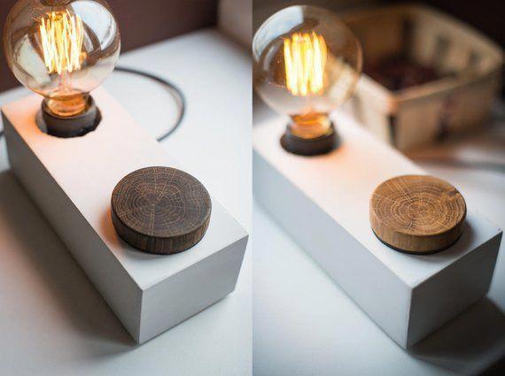 Concrete Edison Dimmer Lamp Block 237