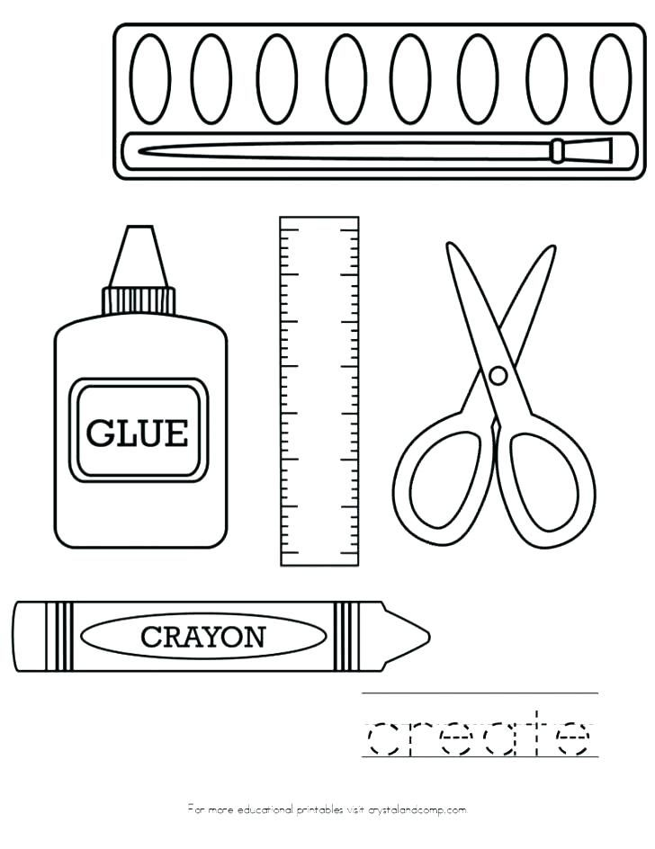 school supplies coloring pages printables back to for