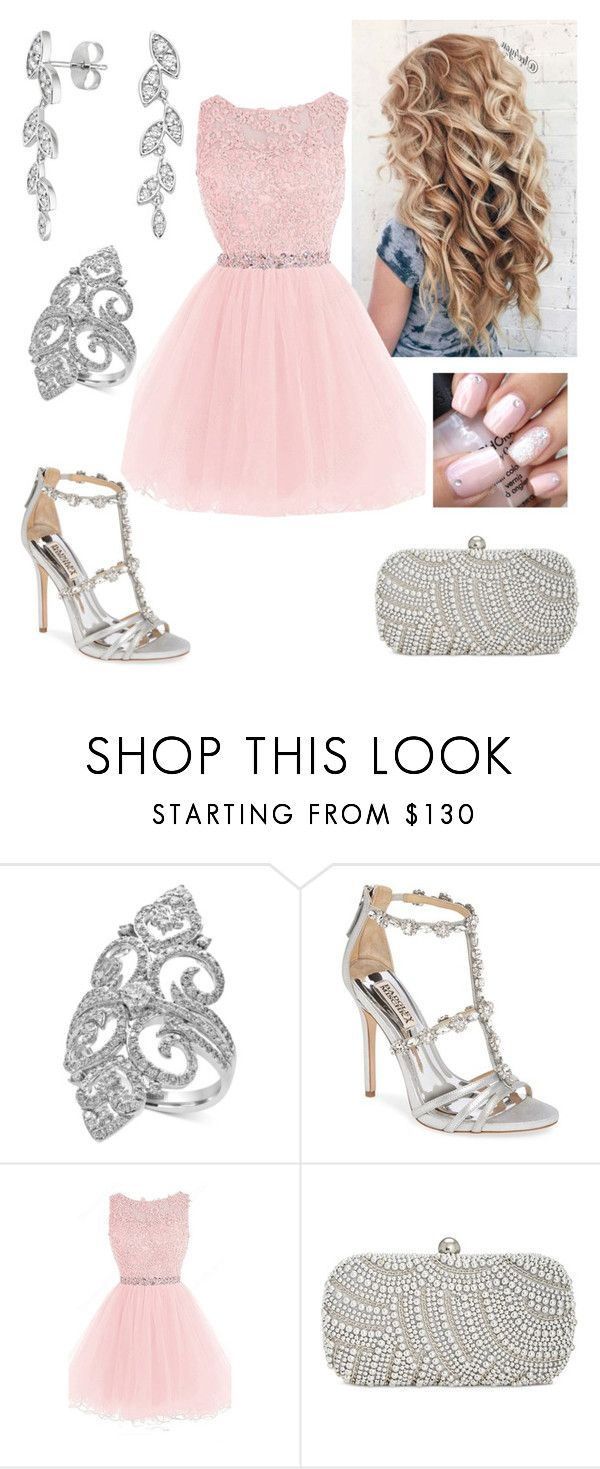 """""""Prom Queen"""" by paoladouka on Polyvore featuring Effy Jewelry, Badgley Mischka, INC International Concepts, beautiful, Silver, dress, women and babypink"""