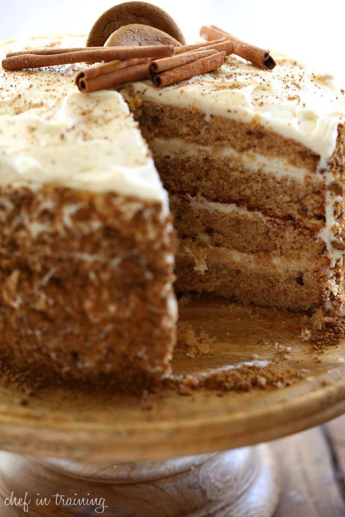 Recipes For You: Gingersnap Spice Cake