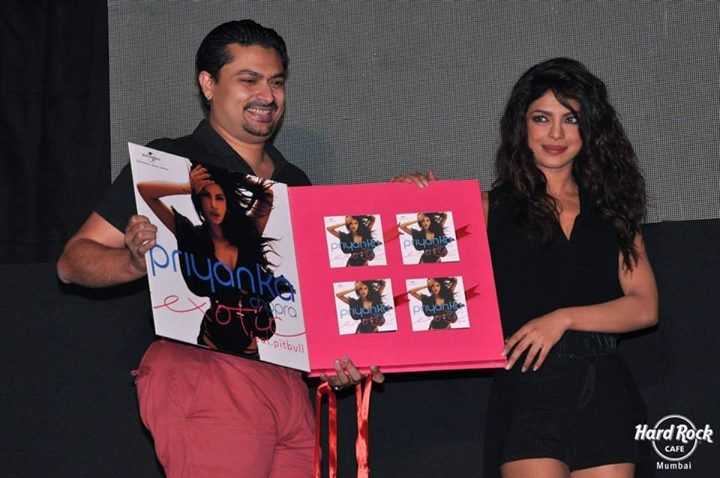 B-town stunner Priyanka Chopra released her new single, 'Exotic' feat. Pitbull on 12th July, 2013. Although the International sensation, Pitbull wasn't present for the event, he sent a recorded message for his Indian fans.