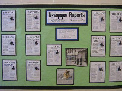 Newspaper Reports Display, classroom displays, class display, newspaper, report, News, literacy, Early Years (EYFS), KS1& KS2 Primary Teaching Resources
