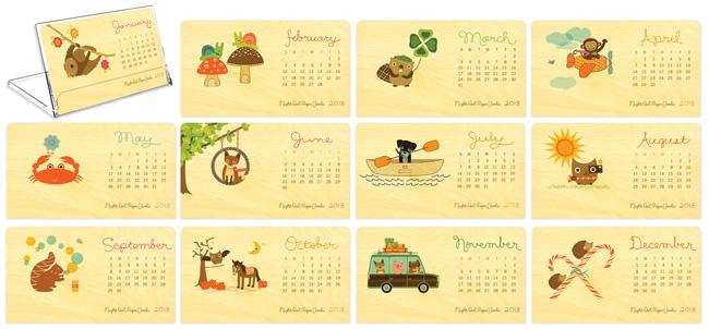 2013 Critter Calendar by Night Owl Paper Goods - $24.00