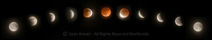Captured last month during the lunar eclipse..  USA: California: Contra Costa County: Danville: Various phases of the Blood Moon lunar eclipse (Earth's shadow passing in front of the moon) on April 14th-15th, 2014, from 11:30pm to 2:45am - © Sean Arbabi | seanarbabi.com (all rights reserved worldwide)