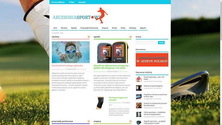 http://www.akcesoria-sportowe.pl/ Strona o akcesoriach sportowych