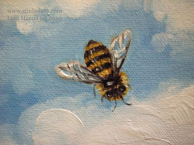 """paintings of bees 