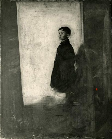 Sir William Nicholson's unfinished portrait of his son, the artist Ben Nicholson