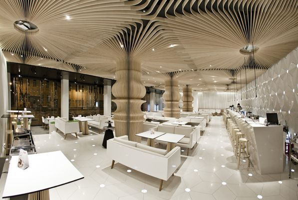 Studio Mode: Public Spaces, Cafe Interiors, Bar Design, Graffiti Cafe, Ceilings Design, Interiors Design, Cafe Design, Studios Mode, Design Studios