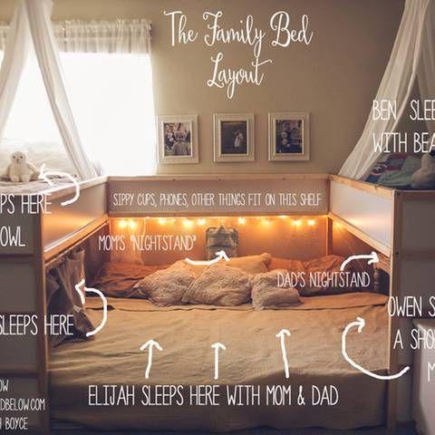 Ikea-Hack: Ist das das gemütlichste Familienbett der Welt?