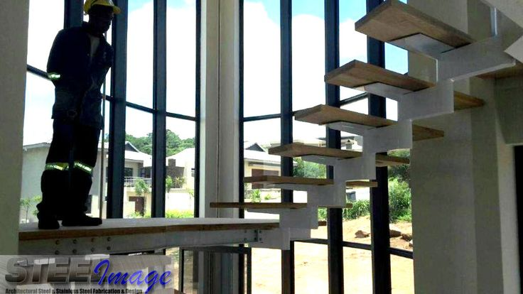 A view from the bottom #steelimage #custom #designed #staircases #mildsteel #oak
