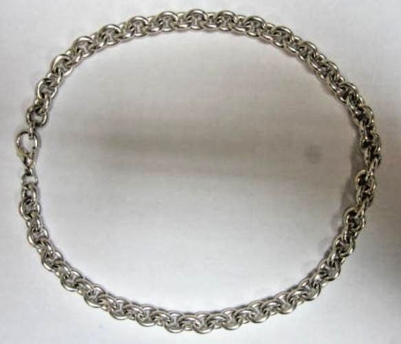 """.925 STERLING SILVER 16"""" OPEN LINK CHAIN 55.8 GRAMS ROUND LINKS LOBSTER CLASP #Chain"""
