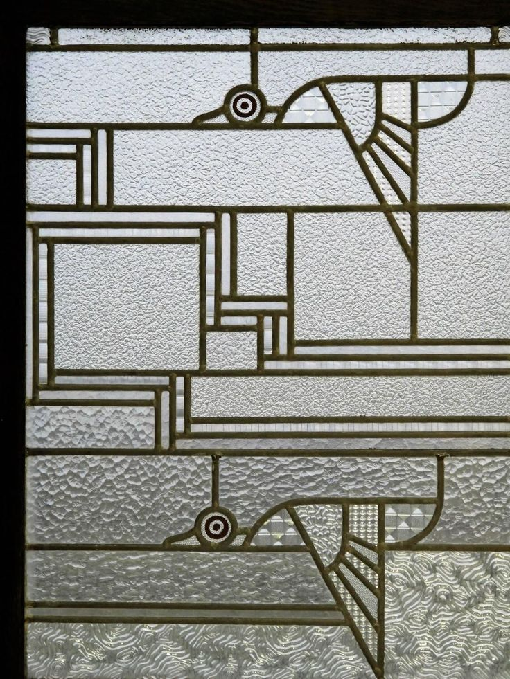 De Stijl Glass Panel with Flying Birds by Kees Kuiler 2