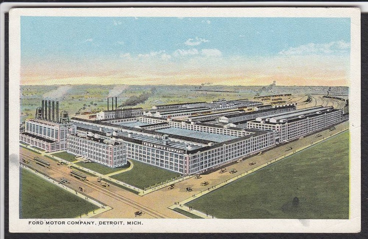 47 best michigan postcards images on pinterest greeting for Ford motor company detroit mi