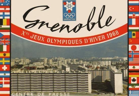 GRENOBLE LES SITES - JEUX OLYMPIQUES GRENOBLE EN CARTES POSTALES