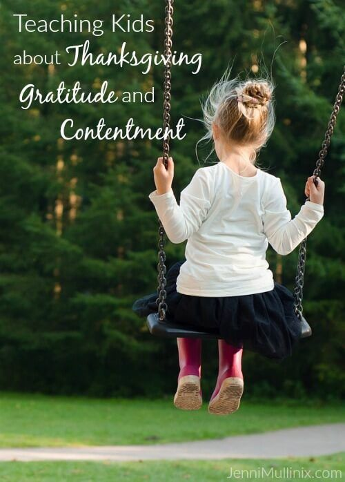 Ideas and resources for helping toddlers and preschoolers understand the concepts of contentment, gratitude & thanksgiving.