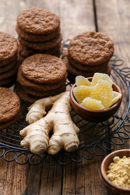 Triple Ginger Snap Cookies with THREE kinds of ginger: fresh, ground, and crystallized.