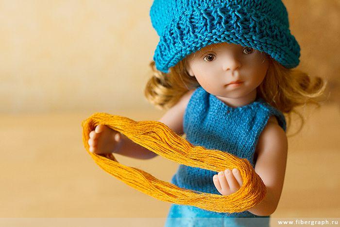 Minouche Gala doll jacquard pullover. Gala with the wool mouline. #Minouche #Kaite Kruse #doll #handmade #knit