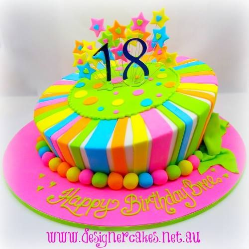 18th Birthday Cake by Trish Jackson Designer Cakes, Kempsey, New South Wales, Australia.  You'll find this Cake Appreciation Society Member in our Directory at www.cakeappreciationsociety.com