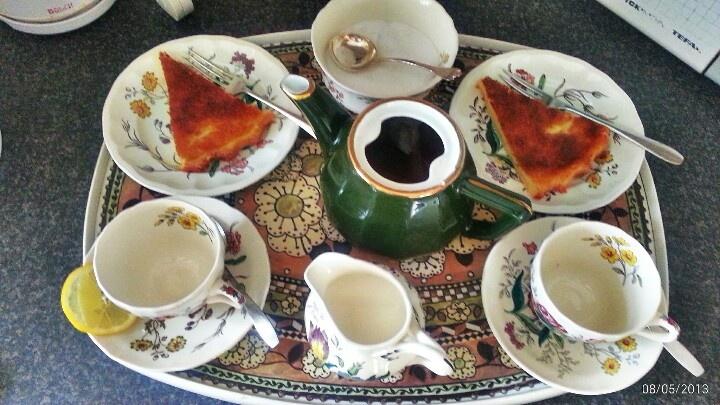 High tea milk tart