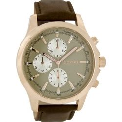 OOZOO Timepieces XL Brown Leather Strap C6772