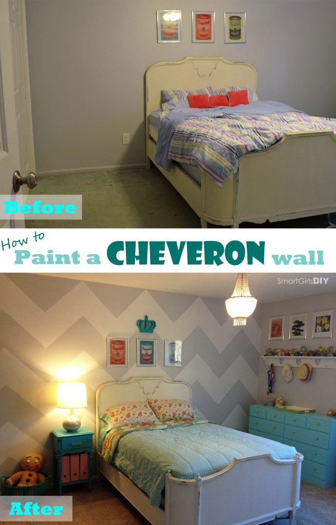 Chevron Wall Painting Tutorial