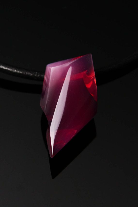 Handmade Glass Pink Necklace by Ondřej Oliva  FREE by OlivaGlass