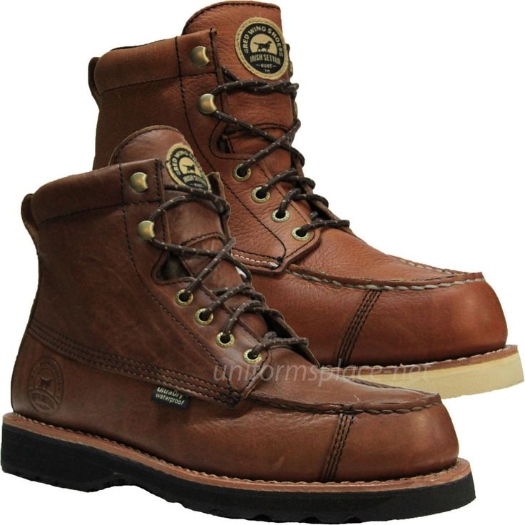 "Mens Work Boots Red Wing Irish Setter Wingshooter 7"" Waterproof Ultradry Brown"