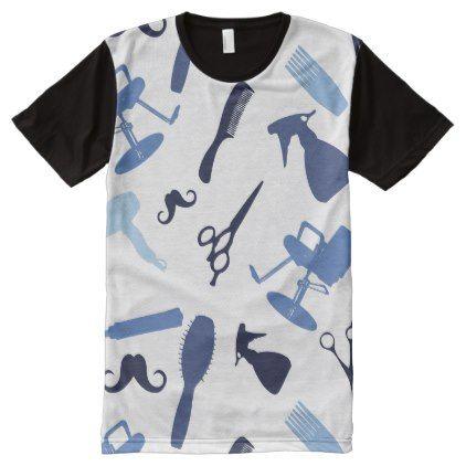 #salon - #Hair salon tools pattern All-Over-Print T-Shirt