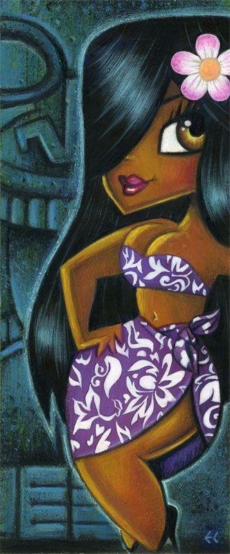 Mai Kai Girl - Suzy by Eddy Crosby (Acrylic on hardboard) www.eddycrosby.com