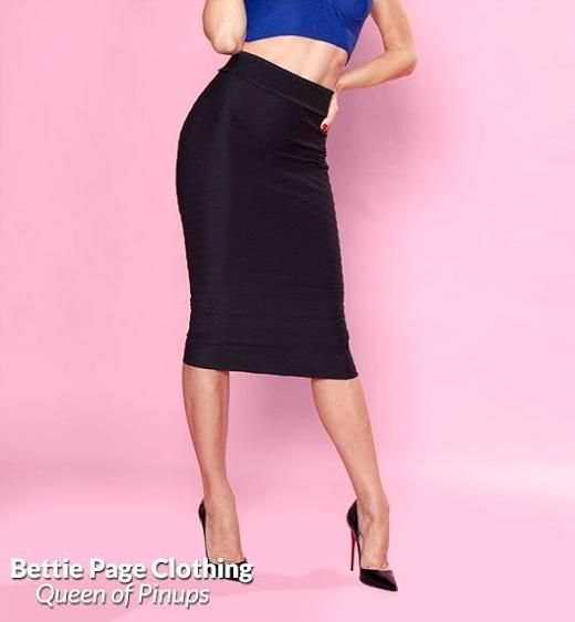 High Time pencil skirt, Sort