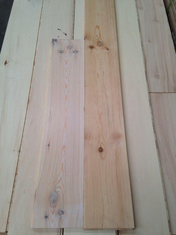 Grenen witte houten vloer