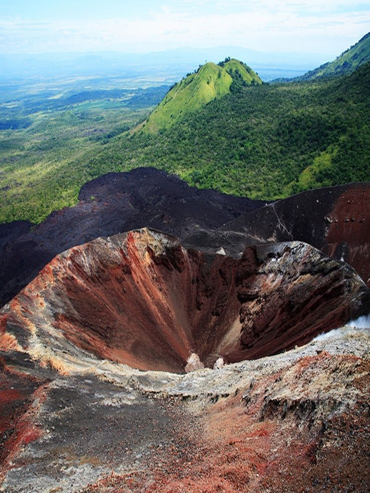 Volcano crater near Managua, Nicaragua.