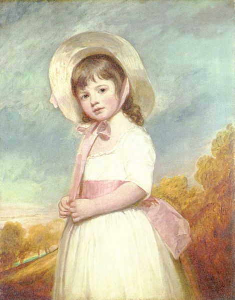 """Portrait of Miss Juliana Willoughby"", c. 1781-83, by George Romney (English, 1734-1802)."